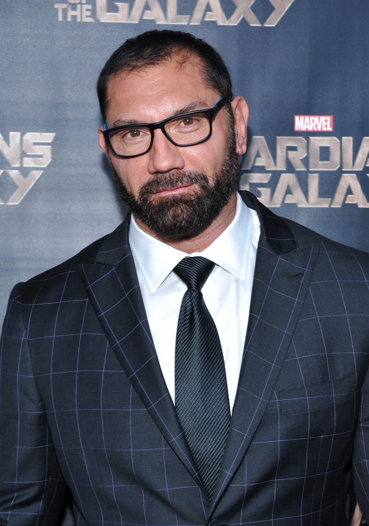 "Dave Bautista at the Toronto screening of Marvel's ""Guardians of the Galaxy"" great beard on him and well dressed celebs know how to keep themselves smart"