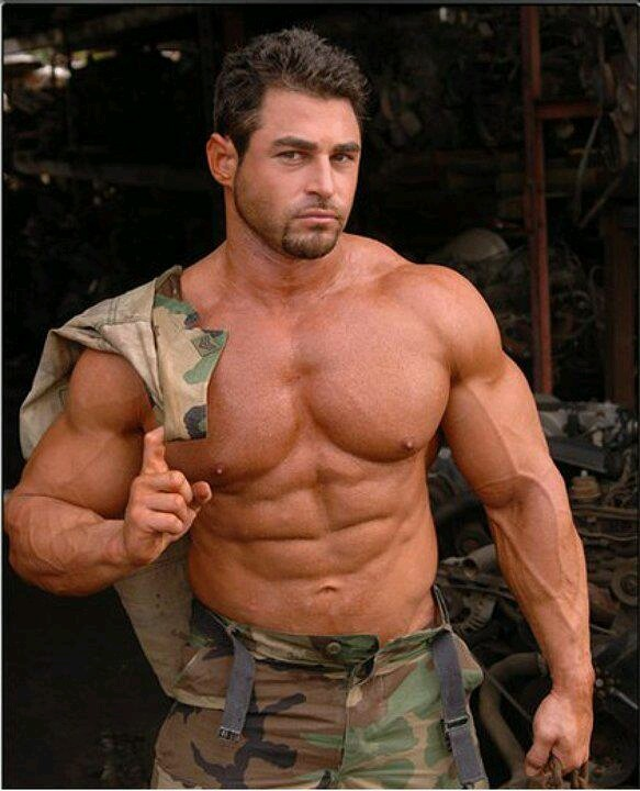 Muscular Black Hunk Drilling Soldiers Ass