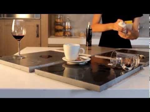 Stapsgewijs uw keukenblad van composiet schoonmaken