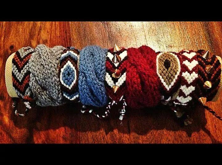 pearlybow, bracelets, evil eye, wool, macrame, handmade