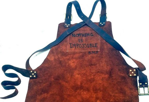 Check out this item in my Etsy shop https://www.etsy.com/ca/listing/483052814/branded-message-leather-work-apron-with