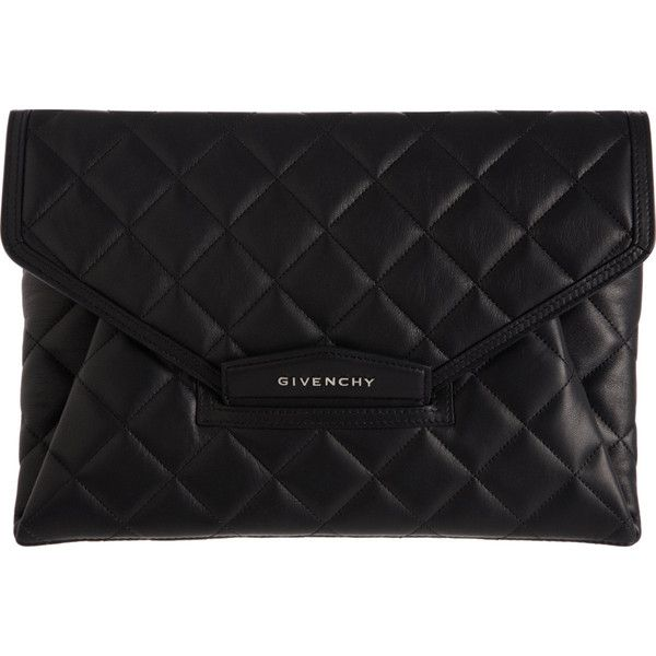 Givenchy Quilted Antigona Envelope Clutch ($1,285) ❤ liked on Polyvore
