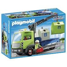 Playmobil - Nouveautés 2016 - Camion avec grue et conteneurs à verre - 6109