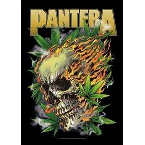 Pantera Skull Leaf Fabric Poster Flag