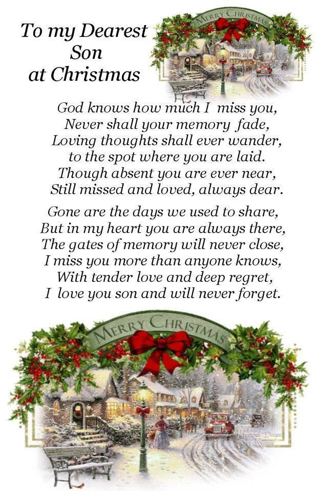 Merry Christmas Son Quotes: I Miss You Son & Love You