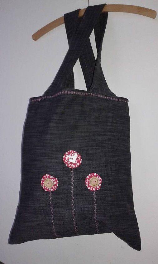 lienka97 / Nákupná taška s kvietkami