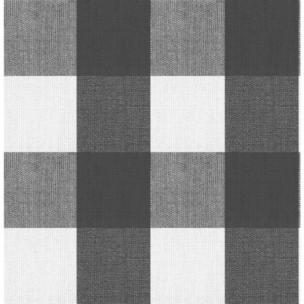 Nuwallpaper Buffalo Plaid Charcoal Charcoal Vinyl Strippable Roll Covers 30 75 Sq Ft Nu3668 The Home Depot Plaid Wallpaper Grey Plaid Wallpaper Nuwallpaper
