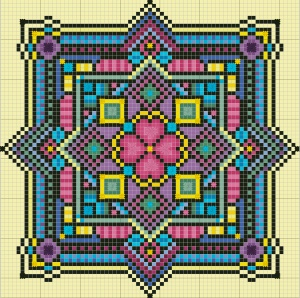 free cross stitch chart #heartbeadwork #loombeading