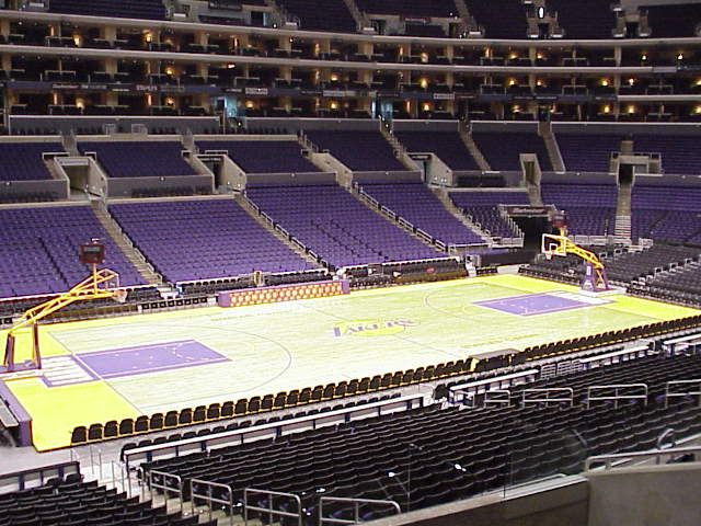A Rare Sight The Empty Staples Center At L A Live