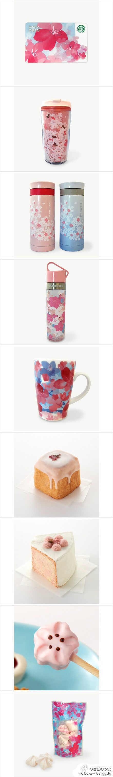 This limited Sakura (Japanese Cherry Blossom) collection in Starbucks only release in Japan... but I still love them~!