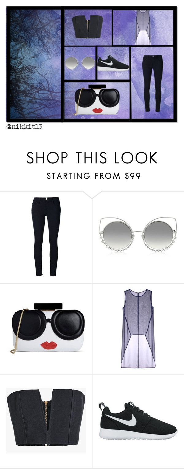 """""""just for you"""" by ragazza-para-siempre on Polyvore featuring Frame Denim, Marc Jacobs, Alice + Olivia, Taylor, Balmain and NIKE"""
