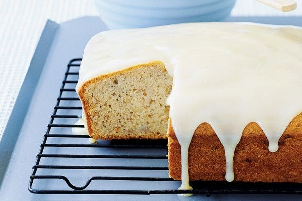 Everyone loves a banana cake and this one can be made in advance and then warmed up in the microwave. Easy!
