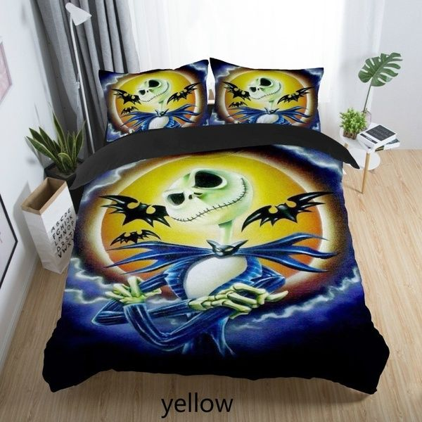 3d The Nightmare Before Christmas Bedding Set Comforter Cover With Pillow Cover 2pcs Christmas Bedding Christmas Bedding Set Nightmare Before Christmas Bedding