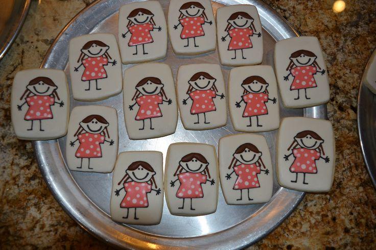 Stick Figure Girl Cookies