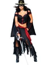Adult Lady Zorro Costume -TV, Movie Costumes -Womens Costumes -Halloween Costumes - Party City