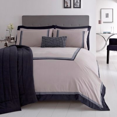 Our bedding for our bedroom - pick out the grey/blue for an accent wall