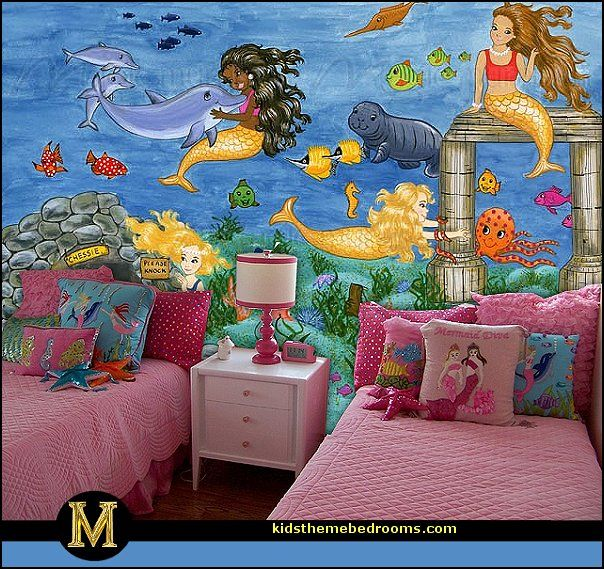 Your little girl will feel like the ruler of the high seas with this aquatic-themed Sea Princess kids' bedding. Description from themerooms.blogspot.co.uk. I searched for this on bing.com/images