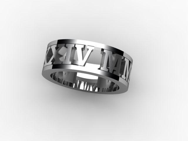 Roman numeral bands www.hardasdiamond.com