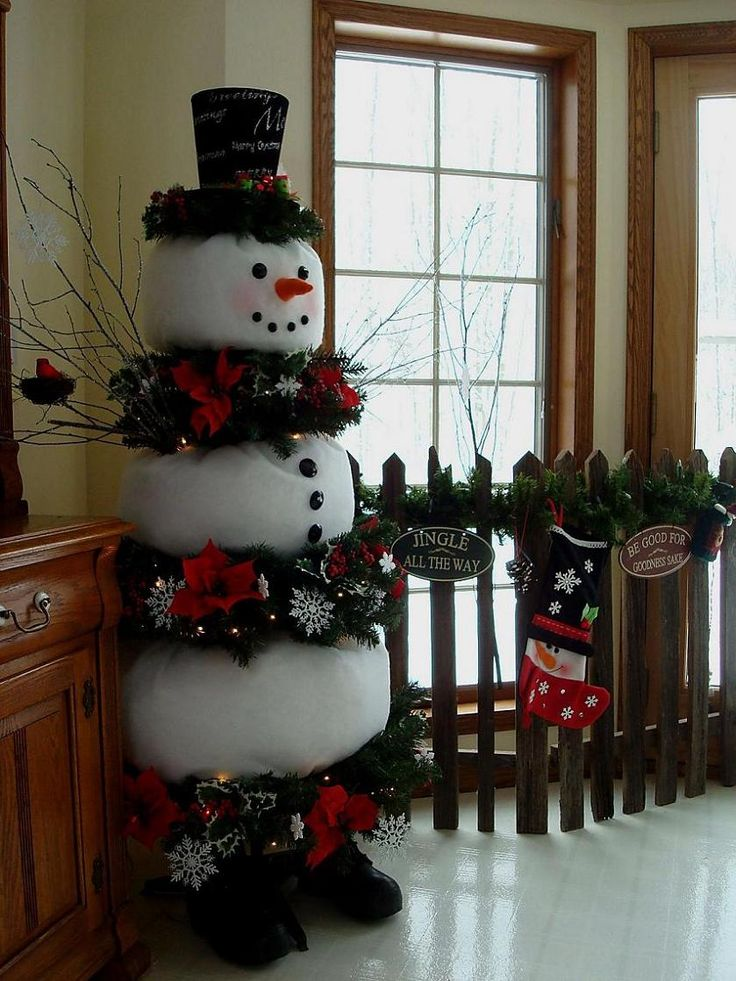Snowman tree tutorial - Topic on HGTV message board. {Ladies I would print the info given for the snowman tree ASAP cause I've seen instructions vanish without warning}