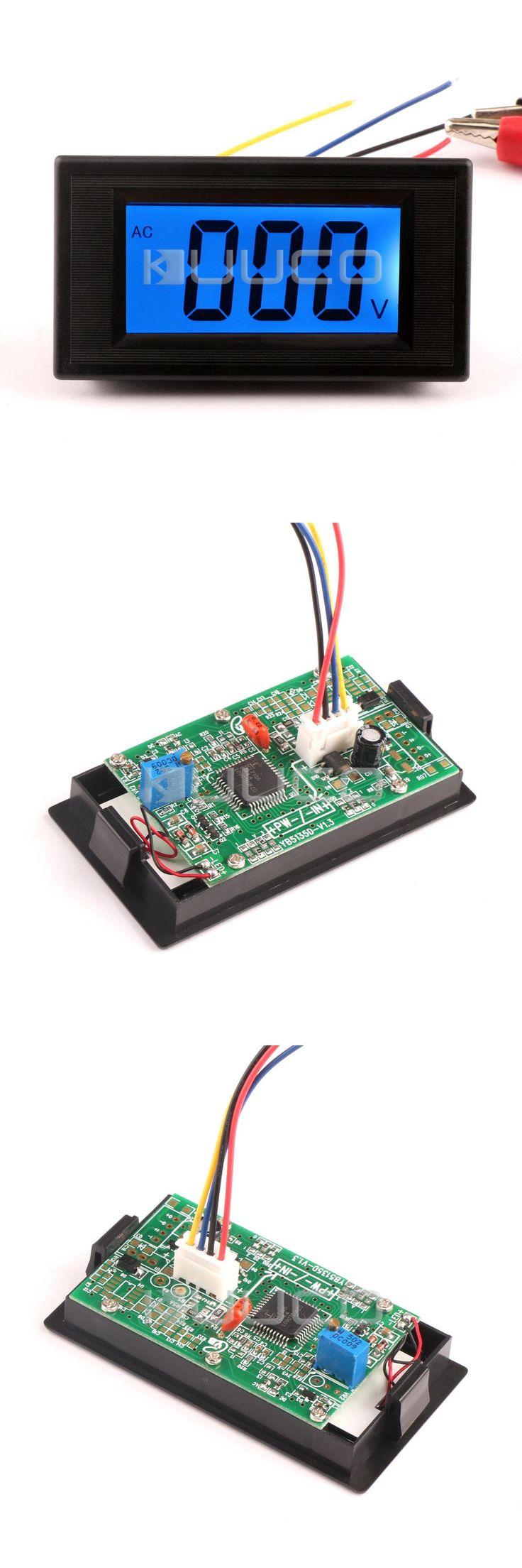 [Visit to Buy] AC Volt Gauge Monitor Meter AC 0~200V Blue LCD Display Digital Voltmeter AC/DC 8V 12V Voltage Panel Meter #Advertisement