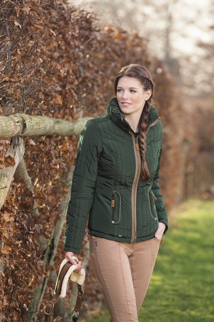 HKM Champagne Quilt Riding Jacket