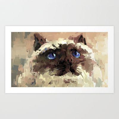 Himalaya cat(peaceful) Art Print by Zen.Gin - $18.72  society6