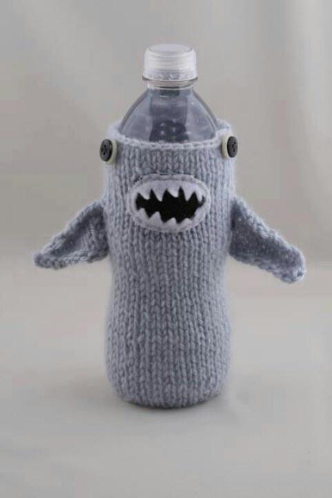 Shark bottle holder