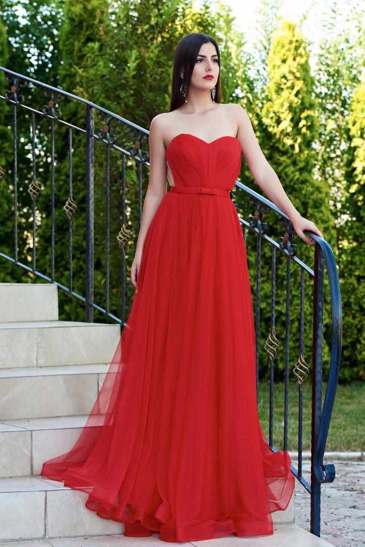 Comanda online, Rochie Ana Radu Legendary Look Red. Articole masurate, calitate garantata!
