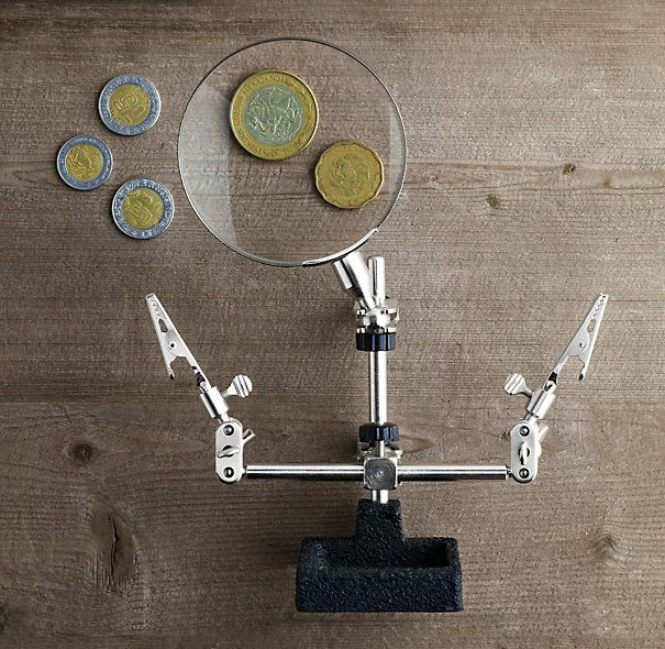 Project Partner Hands–Free Magnifier Mexican coins!?