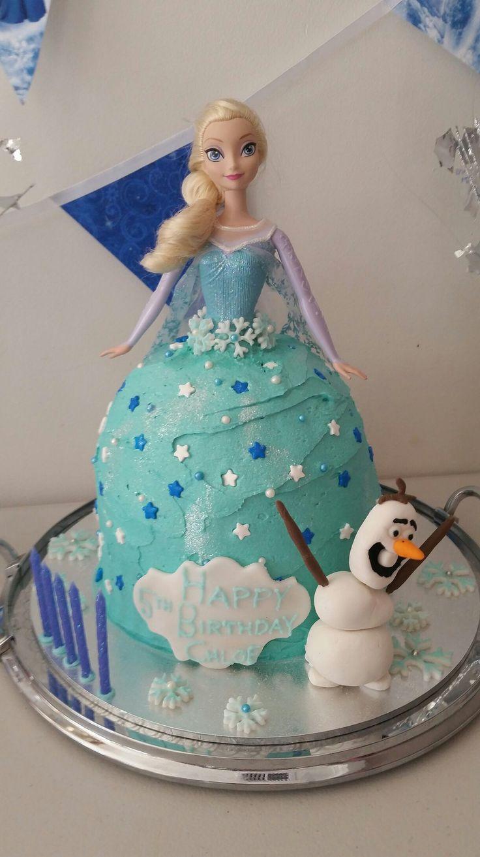 Pink Milk & Peonies - Frozen Elsa & Olaf cake   @pink_milk_and_peonies