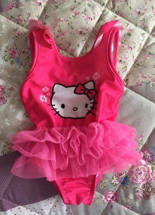 Kupuj mé předměty na #vinted http://www.vinted.cz/deti/plavky/16294228-detske-ruzove-plavky-hello-kitty-s-tylovou-sukni