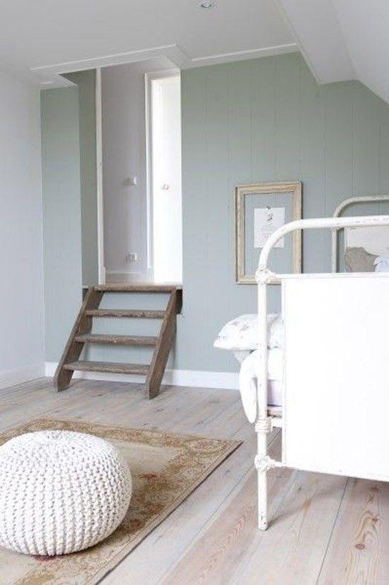 Meer dan 1000 idee n over groene slaapkamers op pinterest limegroene slaapkamers slaapkamers - Kleur muur volwassene kamer ...