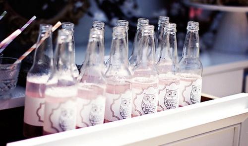 .Bottle Labels, Soda Bottles, Parties Plans, Beer Bottle, Parties Ideas, Cute Owls, Sodas Bottle, Pink Sodas, Owls Bottle
