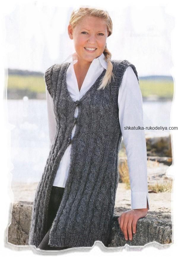 длинный серый жилет Vestă Cu Tâlc серый жилет вязание и вязаный
