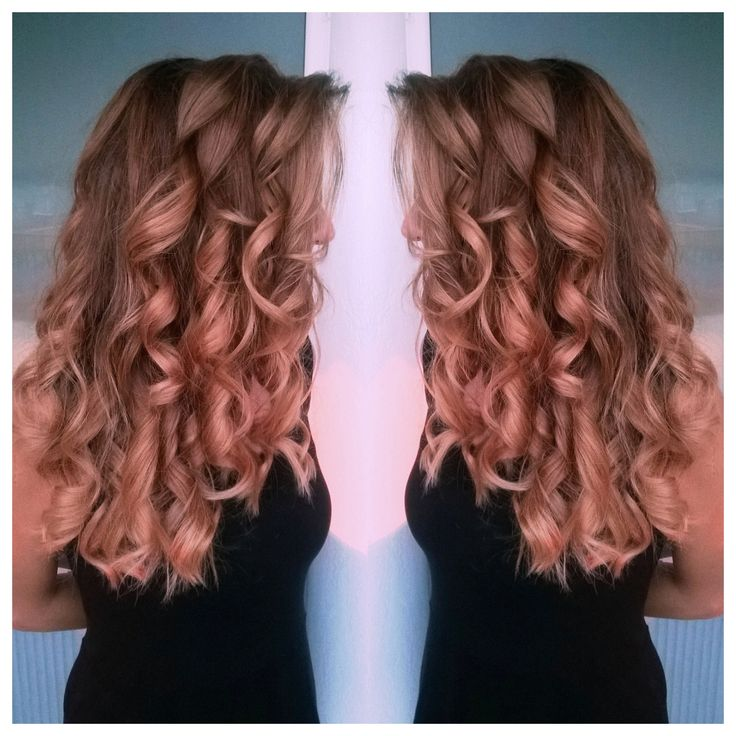 Rose gold painting Hair by Penny Voudouri #rosegold #balayage