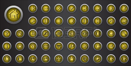 Web Icons set. Internet buttons collection with signs