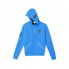 Motif fleece sweatshirt, Sky Blue