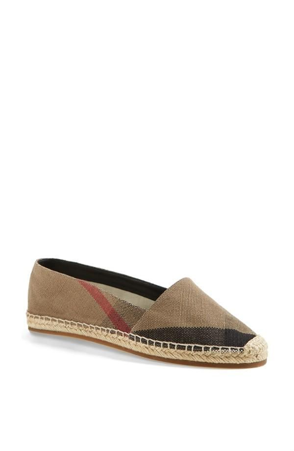 Cute with denim shorts or jeans | Burberry espadrille