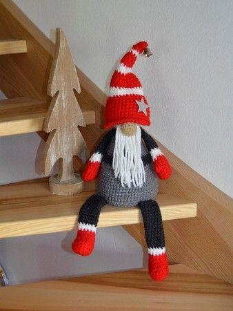 Wichtel Xxl Stair Stool Edge Stool Doorstop Nikolaus Weihnachtsdeko Crochet Patt…