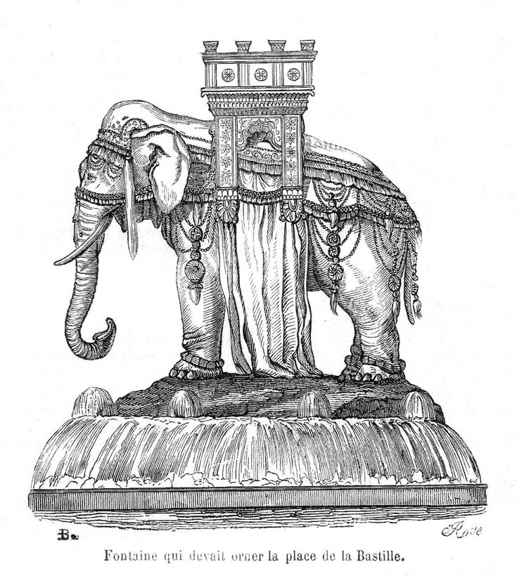 la bastille elephant