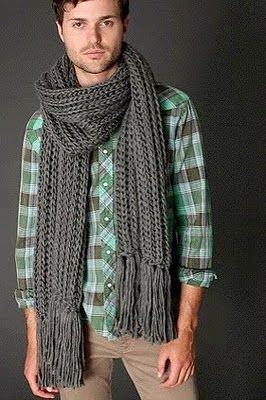 Digital Soul Experience - MartinCMusicBlog - Double Cable Knit Scarf for Men