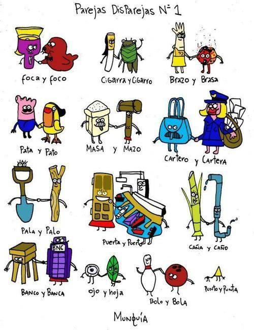 parejas y disparejas 1 ✿ Spanish Learning/ Teaching Spanish / Spanish Language…
