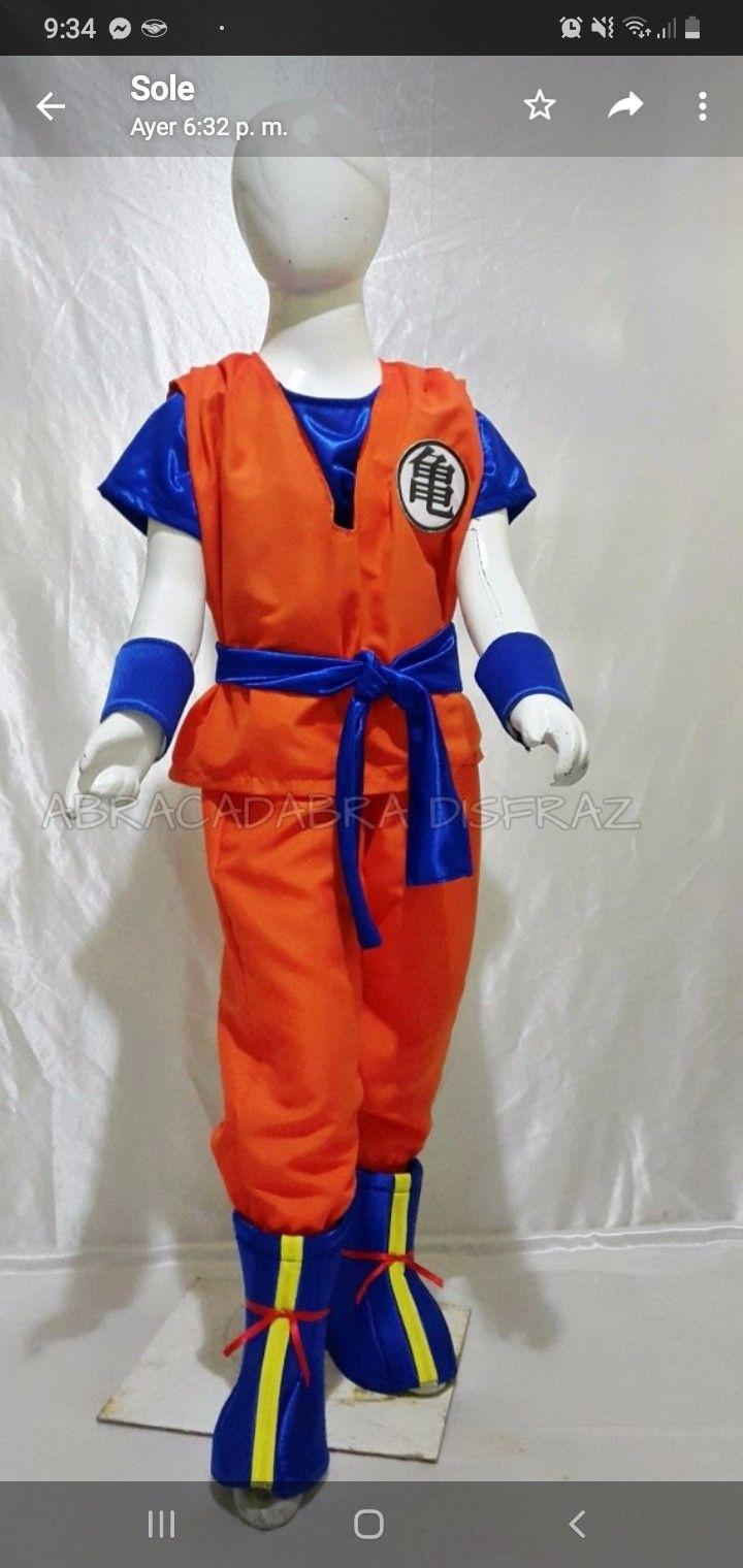 Pin De Carter En Disfraces Disfraz De Goku Disfraz Dragon Disfraces Para Niños