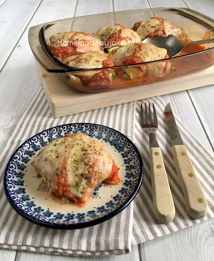 Courgette pakketjes met ricotta en spinazie