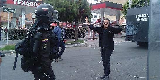 Encapuchados provocaron disturbios cerca de la Universidad Pedagógica - ElTiempo.com
