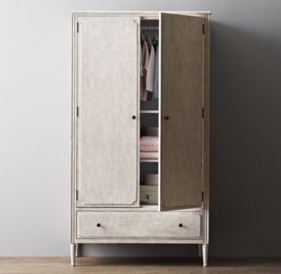 Marcelle Armoire in Vintage Grey