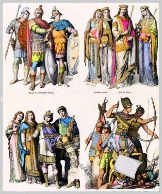 Medieval Clothes In 5th To 10th Century Le Haut Moyen