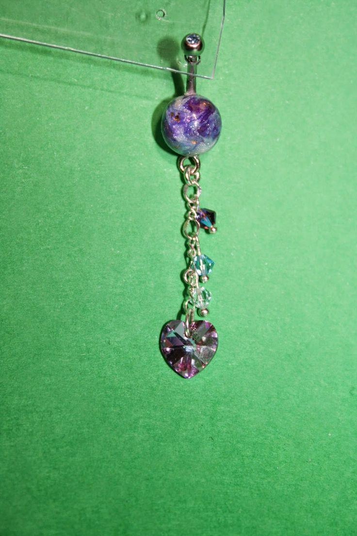Il meraviglioso mondo del Fimo... e altro ancora!: Collana, bracciale e piercing ombelico realizzati con perle in Fimo ad effetto marmorizzato e brillante