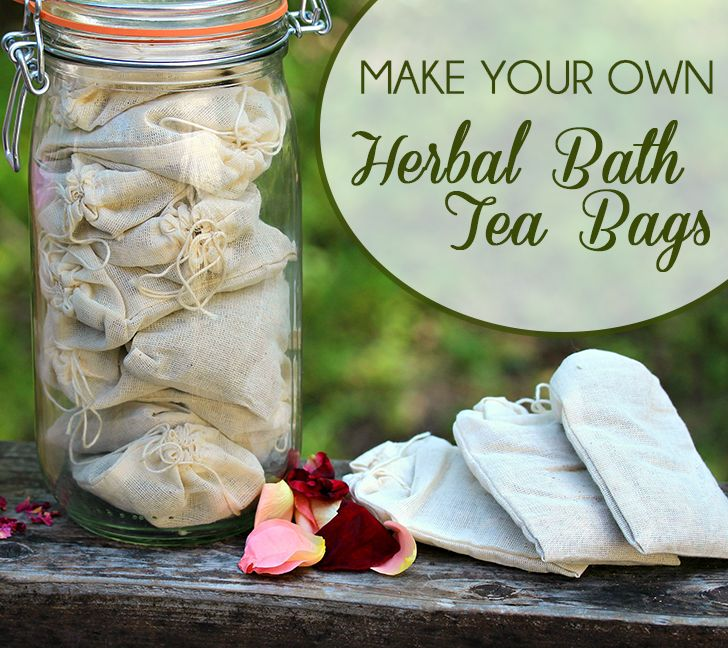Relax and renew in your herbal baths. How to create herbal bath tea bags to relax your muscles, relieve stress and rejuvenate
