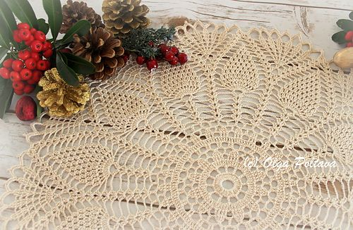 This is a pattern for a big round doily (about 19 inches across after blocking) that is made with crochet cotton thread size 10 and a steel hook 1.5 mm.